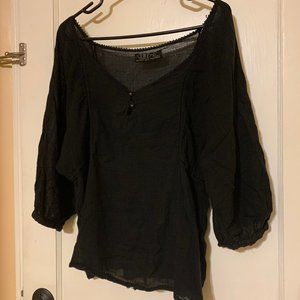 Black off-the-shoulder TRF by Zara Blouse